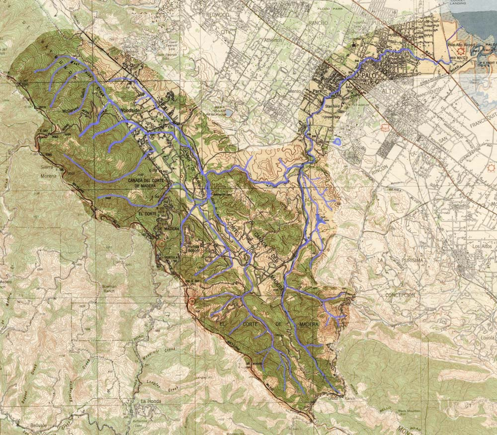 San Francisquito Watershed Map Large